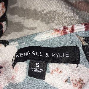 Kendall & Kylie Floral Blue Romper